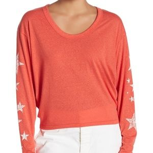 Free People Movement Melrose Star Red/White Tee